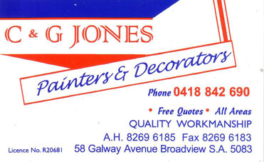C and G Jones Painting